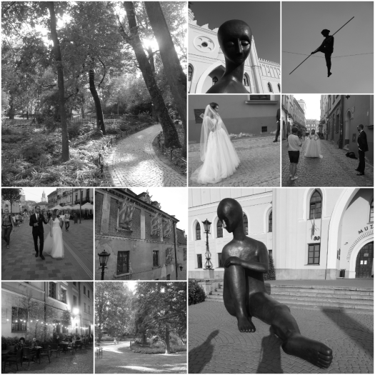 collage_Lublin at night